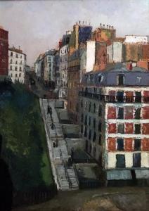 Морис Утрилло -  Улица Мюллер на Монмартре, ок. 1908