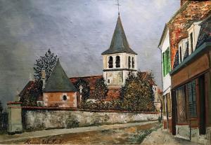 Морис Утрилло -  Церковь в парижском предместье, ок. 1909