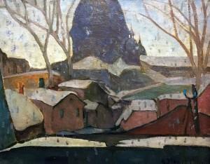 Мэйбл Мэй - Снежинки на окне мастерской, 1928