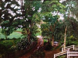 Николай Аструп - Дождливость под деревьями, 1908