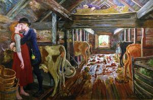 Николай Аструп - Коровник, 1904