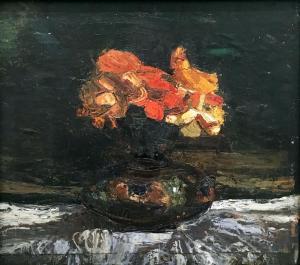 Пауль Клее - Цветы в вазе, 1908