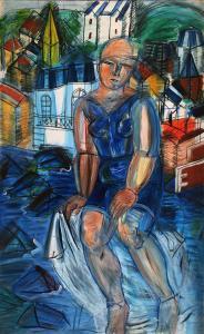 Рауль Дюфи - Большая купальщица, 1950
