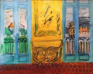 Рауль Дюфи - Желтая консоль с окнами, 1948