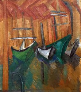 Рауль Дюфи - Лодки в Эстаке, 1908
