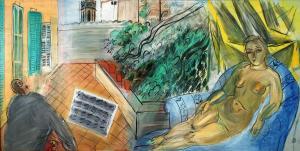 Рауль Дюфи - Обнажнная на терассе в Caldas de Montbuy 1943