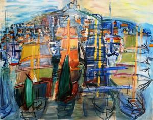 Рауль Дюфи - Марсельский порт, 1952