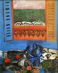 Рауль Дюфи - Натюрморт с рыбой и фруктами, 1920-1922