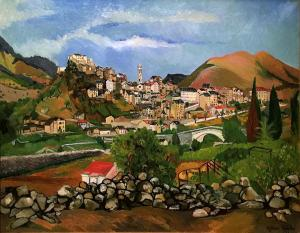 Сюзанна Валадон - Вид города Корте, 1913