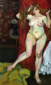 Сюзанна Валадон - Обнаженная расчесывает волосы, 1916