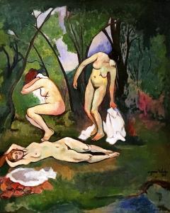 Сюзанна Валадон - Три купальщицы, 1909
