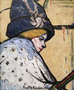 Франсис Пикабиа - Портрет Мистингвет, 1909