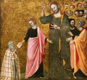 Франческо да Римини - Видение св. Клэра, 1340 (Лондон)