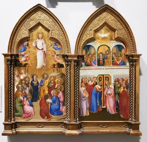 Якобо ди Тионе - диптих Вознесение, Пятидесятница, 1370 (Лондон)
