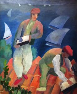 Ян Вацлав Завадовский (Жан Завадо) - Баскские кровельщики, ок. 1915