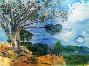 Рауль Дюфи - Большое дерево в Сэнт Максим, 1942