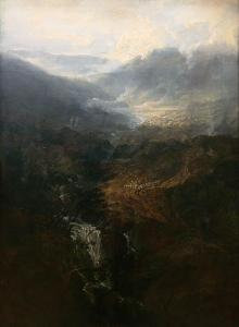 Morning amongst the Coniston Fells, Cumberland exhibited 1798