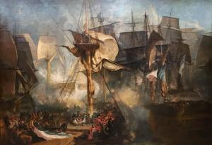 The Battle of Trafalgar, as Seen from the Mizen Starboard Shrouds of the Victory exhibited 1806-8