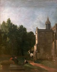 The Church Porch, East Bergholt exhibited 1810