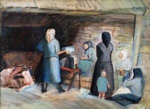 Гуревич Д. Е. - В хлеву, 1930 (холст, масло)