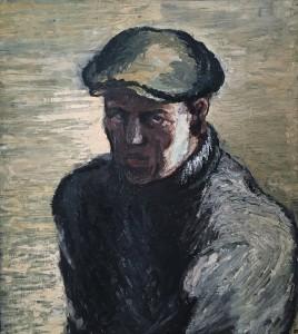 Костров Н. И. - Автопортрет, 1931 (фанера, масло)