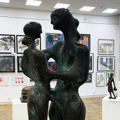 Хан Гаджи оглы Абдурагимов — Адам и Ева, 2005 (бронза, камень)