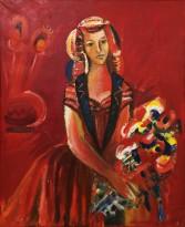 Валерик Апинян - Танцовщица, 1983 (холст, масло)