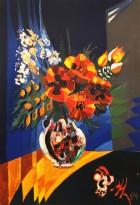 Валерик Апинян - Цветы, 1988 (холст, масло)