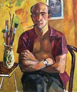 Валерий Ватенин - Автопортрет в фас, 1962 (холст, масло)