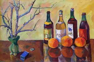 Валерий Ватенин - Натюрморт с бутылками, 1962 (холст, масло)