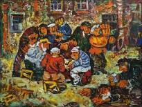 Виктор Мымрин - Мужики, 1989 (холст, масло)