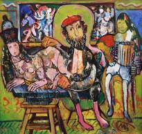 Виктор Мымрин - Творец, созидающий сфинкса, 1990 (холст, масло)