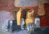 Владимир Курдюков - Крестьянский натюрморт, 2002 (картон, масло)
