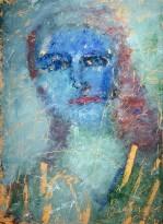 Владимир Курдюков - Синий портрет, 2000-е гг. (картон, масло)