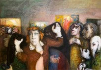 Юрий Гусев — Зритель, 2011 (холст, темпера)