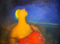 Юрий Гусев — Ночная прогулка, 1998 (холст, масло)