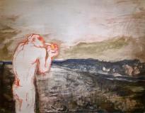 Юрий Гусев — Прикуривание, 2011 (холст, темпера)