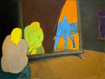 Юрий Гусев — Сусанна у зеркала, 2009 (холст, темпера)