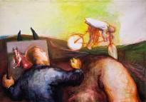Юрий Гусев — Художник в Ануфриево, 2010 (холст, темпера)